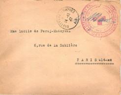 FRANCHISE CROIX ROUGE POLONAISE HAUTEVILLE LOMPNES AIN SANATORIUM 14.11.1947 POUR PARIS MALADE MADEYSKI - Oorlog 1939-45