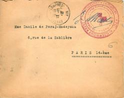 FRANCHISE CROIX ROUGE POLONAISE HAUTEVILLE LOMPNES AIN SANATORIUM 12/11/1947 POUR PARIS MALADE MADEYSKI - Oorlog 1939-45