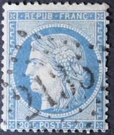 37  (cote 15 €) Obl GC 2135 Lussac-les-chateaux (80 Vienne ) Ind 6 ; Frappe Centrée - 1849-1876: Classic Period