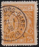 Luxembourg  .  Y&T   .    Telegraph  2  .  Perf. 11½     .   O    .   Oblitéré   .   /   .    Gestempelt - Telegrafen