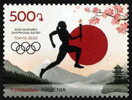 2021 Armenia, Summer Olympics 2020, Tokyo, Japan, Stamp, MNH - Summer 2020: Tokyo