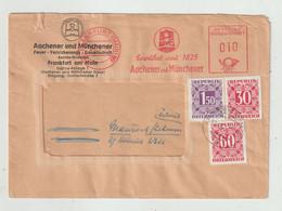 Bundesrepublik Deutschland - 1951 - Brief Freistempel, Nachportomarken Oesterreich (1402) - Covers & Documents