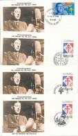 EC-431: DE GAULE : Lot De 8 Obl Sur Enveloppes (cinquantenaire De L'appel Du 18 Juin) - De Gaulle (General)