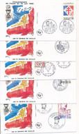 EC-432: DE GAULE : Lot De 10 Obl Sur Enveloppes (cinquantenaire De L'appel Du 18 Juin) - De Gaulle (General)