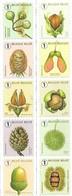 2021 Boomvruchten Fruits Des Arbres Beuk Lork Eik Chene Den Noot Noyer MNH  Strip Van 10 Of Strip Van 2 X 5 - Unused Stamps