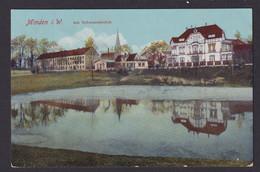 Ansichtskarte Minden Westfalen Schwanenteich Feldpost N. Häver - Non Classés