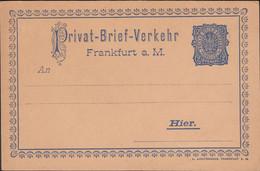 Germany - Private Stadtpost, Privat-Brief-Verkehr FRANKFURT A. Main - HIER, 1896-1898. - Private