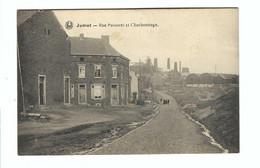 Jumet - Rue Puissant Et Charbonnage 1920 - Charleroi