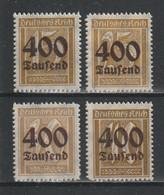 GERMANY REICH 1923 WEIMAR Mi 297-300 OVERPRINTS MNH ** FULL SET - Nuevos