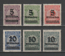 GERMANY REICH 1923 WEIMAR Mi 332-337 HYPERINFLATION OVP MNH ** FULL SET - Nuevos