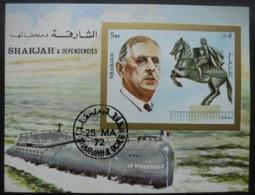 SHARJAH Bloc Général De Gaulle Oblitéré - Sharjah