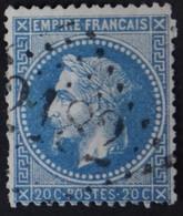 29B Obl GC 2182 Malzieu-ville (46 Lozère ) Ind 8 ; Frappe Nette - 1849-1876: Période Classique