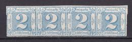 Thurn Und Taxis - 1865 - Michel Nr. 39 Viererstreifen - Ungebr. - Thurn En Taxis