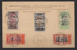 Togo - 1916 - N°Yv. 84 à 89 Sur CP Des Armées - Oblitération De Anecho - Lettres & Documents