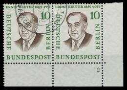 BERLIN 1957 Nr 165 Gestempelt WAAGR PAAR FORMNUMMER 2 X82F026 - Gebruikt