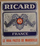 PASTIS  De Marseille, RICARD, France, 150 Cl, 45°, TB - Other