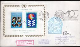 ONU - 1985 - Letter - FDC - 35 Anniversary United Nation - A1RR2 - Briefe U. Dokumente