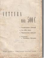 Manuale Uso E Manutenzione - Fiat 500 C (come Da Scansione) - Altri