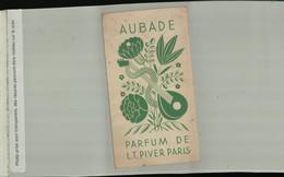 """Calendrier De Poche 1936 Parfumé / Parfum """"Aubade"""" De L.T.Piver, Publicité ( 2021 Juillet CHR 437) - Profumeria Antica (fino Al 1960)"""