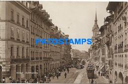 164493 SWITZERLAND BERN SPITALGASSE & TRAMWAY CIRCULATED TO ARGENTINA POSTAL POSTCARD - Zonder Classificatie