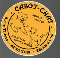 Pub Autocollants - à  Avignon - Cabot Chat Achats Ventes ...vers 1980/90 - Autocollants
