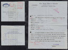 Trinidad 1959 Meter Aerogramme Air Letter PORT OF SPAIN To GOLDKRONACH Germany Royal Bank Of Canada - Trinidad & Tobago (...-1961)