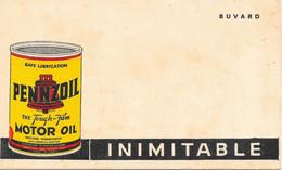 Buvard Inimitable: Huile Pennzoil Motor Oil (Safe Lubrification) The Tough-film Pure Pennsylvania - Gas, Garage, Oil