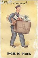 Humour - Carte à SYSTEME - Facteur Poste Postes - Voilà V'là Le Courrier - ROCHE Du DIABLE - Colis - Poste & Postini