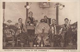 "Orchestre Musette "" Paulo Et Son Ensemble "" Photo R. Perraguin Bal Accordeon . Pli Transversal à Gauche - Romorantin"