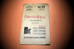 CATALOGUE PHOTO-HALL ,EXTRAIT, MAGASIN 1919 - Unclassified