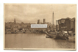 Lincoln - Brayford Pool, Cathedral, Sailing Barge - 1947 Used Postcard - Lincoln