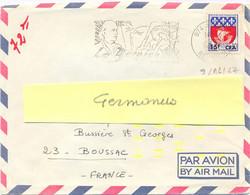 St PAUL REUNION OMec SECAP 9-12-1967 LE BERNICA / LECONTE DELISLE Sur BLASON PARIS Surcharge 15f CFA YT 350A - Storia Postale