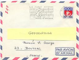 LE PORT LA REUNION OMec SECAP 5-12-1967 LE PORT REUNION / VILLE D'AVENIR Sur BLASON PARIS Surcharge 15f CFA YT 350A - Storia Postale