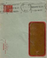 Lyon Les Brotteaux : Pseudo Entier Renex, Krag  En Port-payé VENEZ A LA FOIRE....., Dreyfuss LY0260R, 1933. - Sellados Mecánicos (Publicitario)