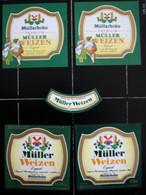 Bieretiketten Bieretikette Deutschland Pfaffenhofen Müller #ZX - Cerveza