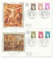 1981 Lot De 2 Env 1er Jour - Sabine - Paris - 1980-1989