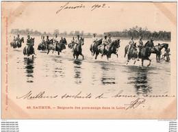 SAUMUR BAIGNADE DES PUR SANGS DANS LA LOIRE PRECURSEUR 1902 TBE - Saumur