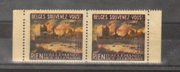 Erinnophilie - Belgique - Ypres - Guerre 14/18 - Paire - Belges Souvenez-Vous - Rien D'Allemand Des Allemands - Erinnophilie