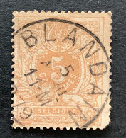 Liggende Leeuw OBP 28 - 5c Gestempeld  EC BLANDAIN - 1869-1888 Lion Couché (Liegender Löwe)