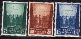 CITTA DEL VATICANO VATIKAN VATICAN 1942 PRO PRIGIONIERI 1 SERIE COMPLETA PRISONERS COMPLETE SET USATA USED OBLITERE' - Used Stamps