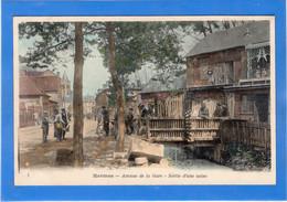 60 OISE - HERMES Avenue De La Gare, Sortie D'une Usine, Aquarellée - Altri Comuni