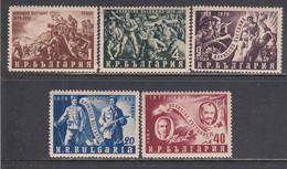Bulgaria 1951 - 75. Jahrestag Des Aufstandes Gegen Die Tuerken, Mi-Nr. 793/97, MNH** - Ungebraucht