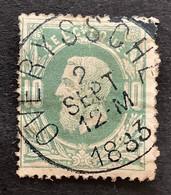 Leopold II OBP 30 - 10c Gestempeld  EC OVERYSSCHE - 1869-1883 Leopold II.