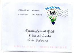 """2021--tp   """" BEL  Depuis 1865  """"  Seul Sur Lettre .. ......à Saisir - 1961-...."""