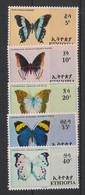 Ethiopia - 1967 - N°Yv. 482 à 486 - Papillons / Butterflies - Neuf Luxe ** / MNH / Postfrisch - Farfalle