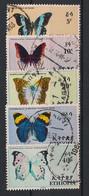 Ethiopia - 1967 - N°Yv. 482 à 486 - Papillons / Butterflies - Oblitéré / Used - Farfalle