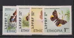 Ethiopia - 1983 - N°Yv. 1085 à 1088 - Papillons / Butterflies - Neuf Luxe ** / MNH / Postfrisch - Farfalle