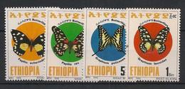 Ethiopia - 1993 - N°Yv. 1358 à 1361 - Papillons / Butterflies - Neuf Luxe ** / MNH / Postfrisch - Farfalle