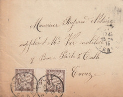 FRANCE LETTRE TAXEE TIMBRE DUVAL MILLESIME 3 1915 TULLE CORREZE - 1859-1955 Storia Postale