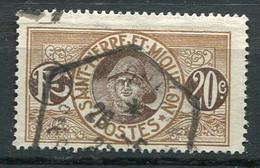 SPM- Yv. N° 83  (o)   20c  Pêcheur Cote  1,2  Cachet Hexagonal  Euro  BE - Used Stamps
